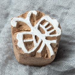 ウッドブロックスタンプ・ミニ【蝶】3×2.5cmの商品写真