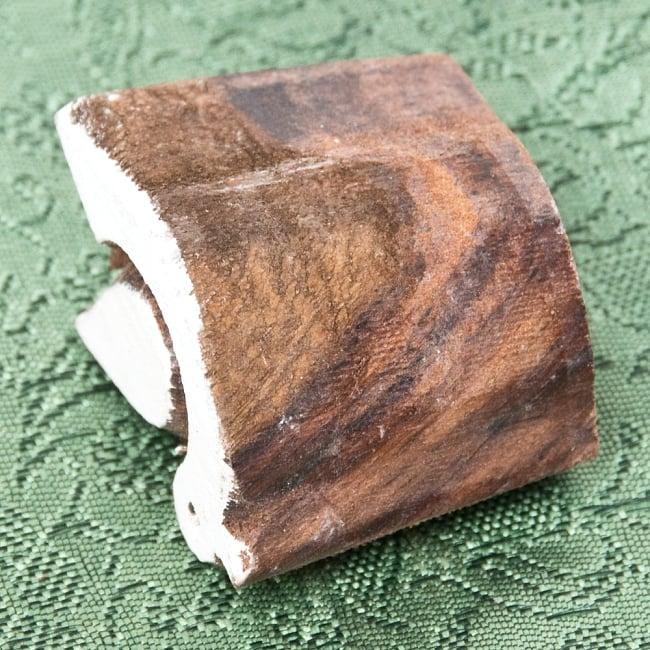 ウッドブロックスタンプ・ミニ【鳥】約4.5×3.5cm 3 - 厚みがあります