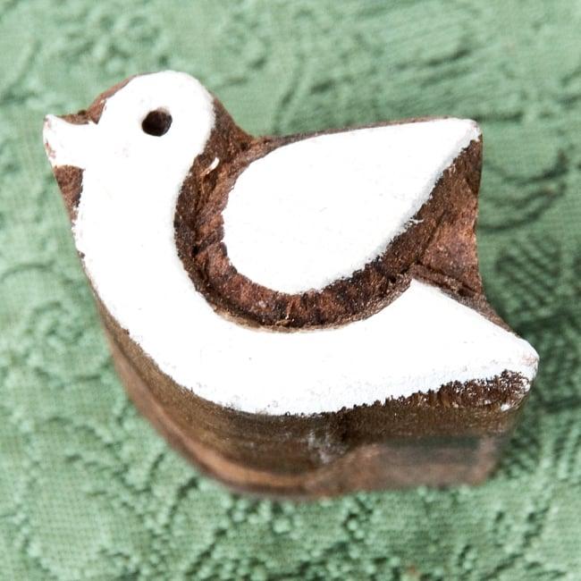 ウッドブロックスタンプ・ミニ【鳥】約4.5×3.5cmの写真