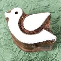 ウッドブロックスタンプ・ミニ【鳥】約4.5×3.5cmの商品写真