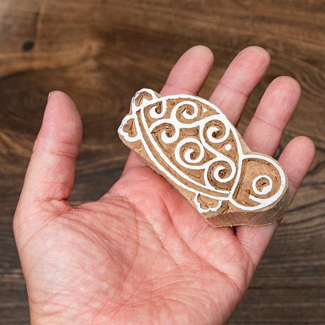 インド伝統の手彫りウッドブロックスタンプ4×2cm 5 - インテリアとして使ってみても非常に可愛いです
