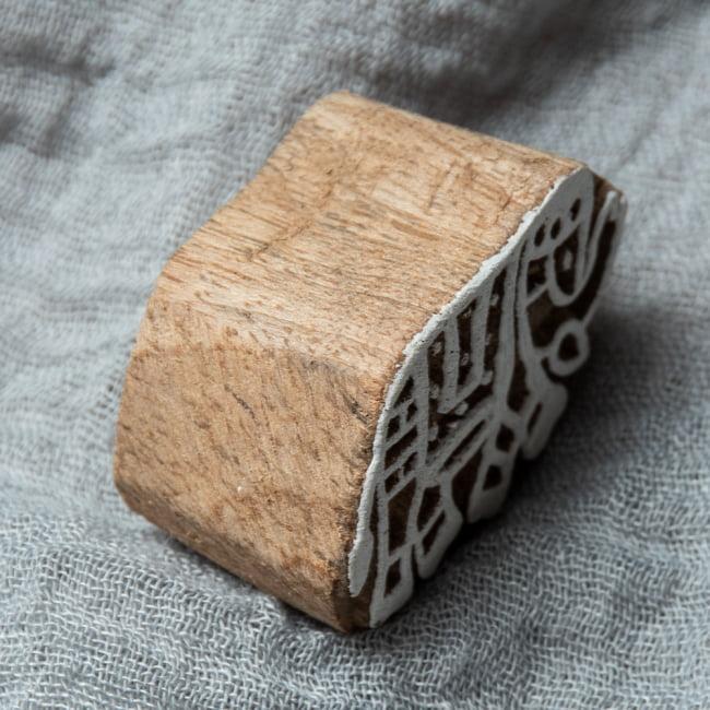 ウッドブロックスタンプ【象】4cm×3cm 3 - 厚みがあります