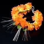 南インドの髪飾り - オレンジ色の花
