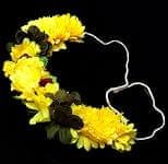 南インドの髪飾り - 黄色の花