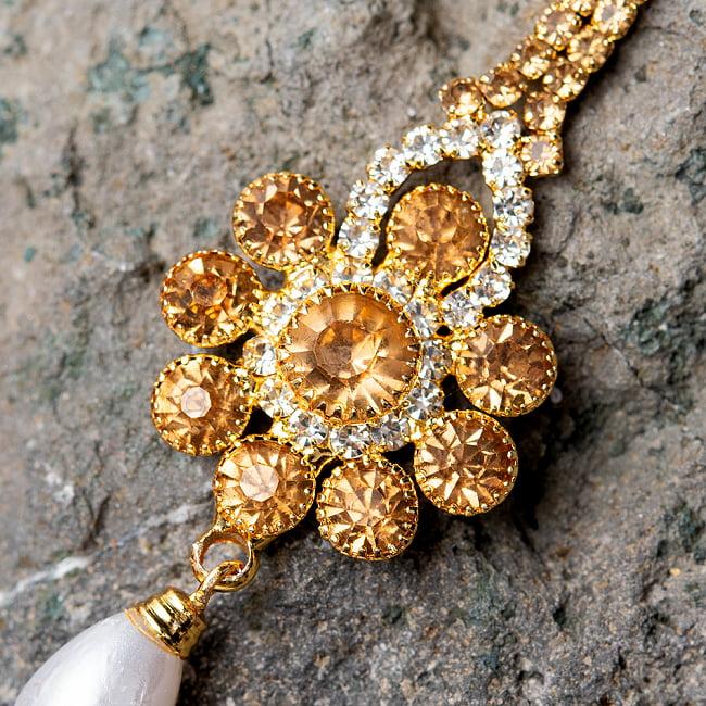 カラフルビジューのティッカ インドのヘアアクセサリー 2 - 光を受けて綺麗に輝きます