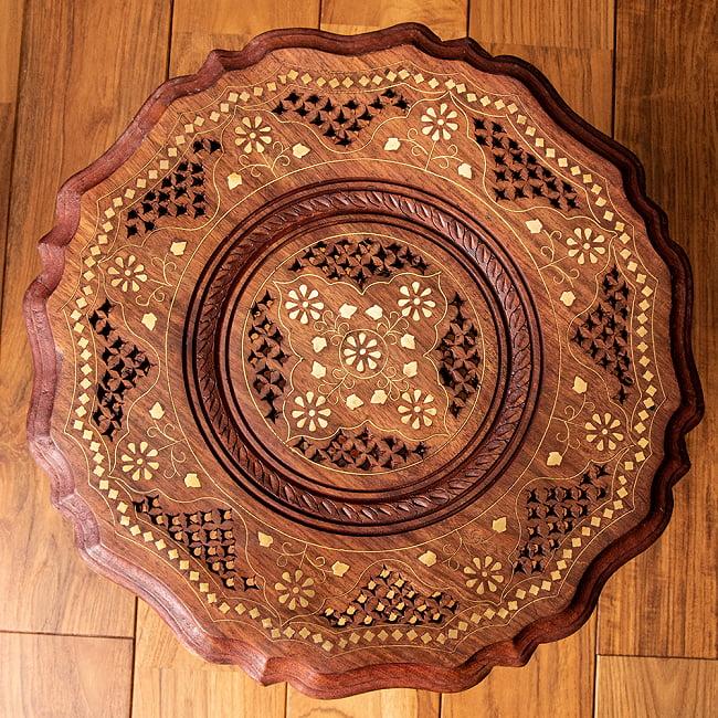 シーシャムウッドのサイドテーブル 【直径:約37cm】 10 - デザイン2