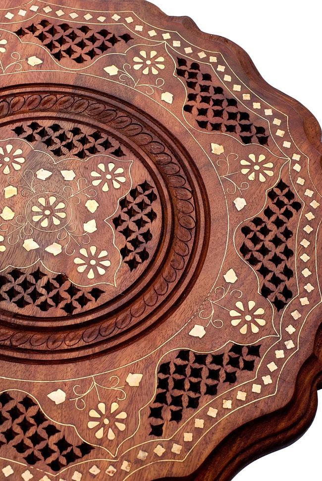 アジアンサイドテーブル 【直径:約37cm】の写真4 - 素敵な装飾ですね。