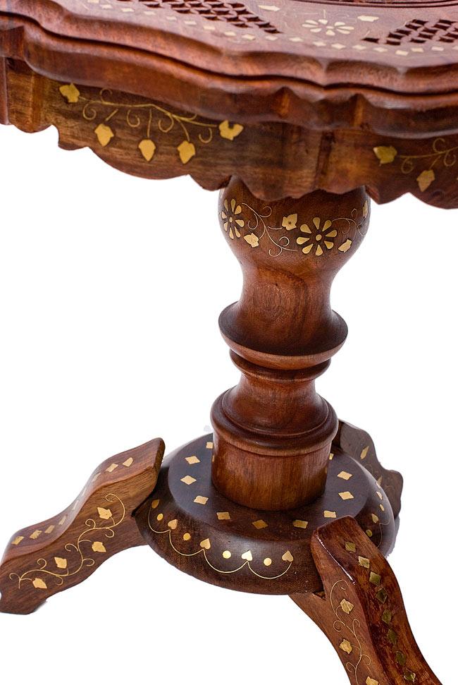 アジアンサイドテーブル 【直径:約37cm】の写真5 - 柱の部分になります。