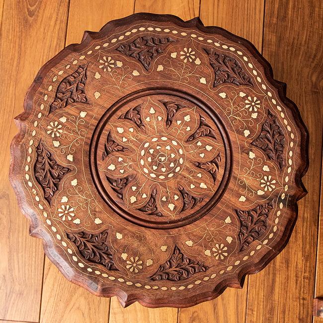 シーシャムウッドのサイドテーブル 【直径:約37cm】 9 - デザイン1