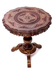 アジアンサイドテーブル 【直径:44cm】【三脚】