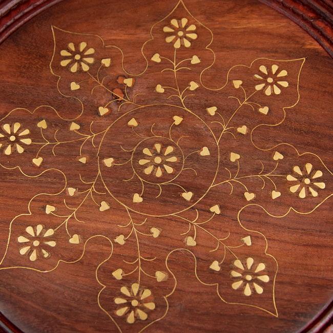 アジアンサイドテーブル 【直径:45cm】の写真5 - 模様を拡大しました。