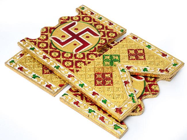 ヒンドゥー教の書見台-小【スワスティカ】 5 - 収納する時は小さくなります