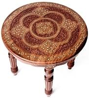 シーシャムウッドのサイドテーブル 【直径:52.5cm】【ラウンドタイプ】
