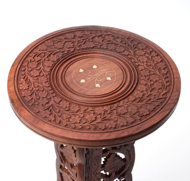 アジアンサイドテーブル 【直径:29cm】【トール】の写真2 - テーブルを撮影しました。