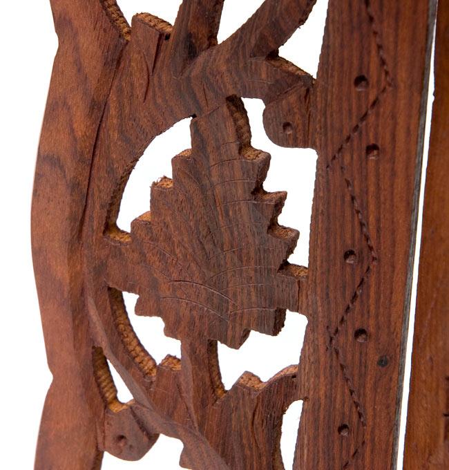 アジアンサイドテーブル 【直径:29cm】【トール】の写真6 - 脚を撮影しました。