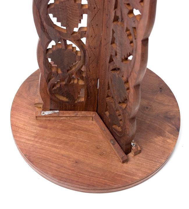 アジアンサイドテーブル 【直径:29cm】【トール】の写真8 - 裏面はこのようになっております。2つの部品をかみ合わせて出来上がり!とても簡単です。
