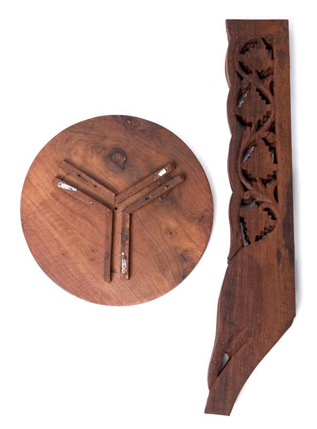 アジアンサイドテーブル 【直径:29cm】【トール】の写真9 - バラしてお届けします。お客様ご自身で組み立てて頂きます。
