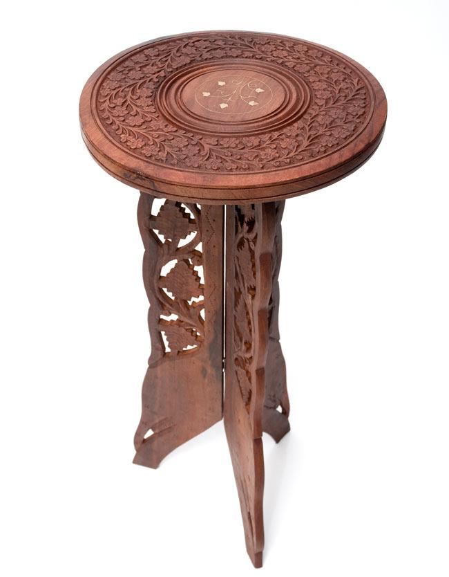 アジアンサイドテーブル 【直径:29cm】【トール】の写真