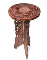 アジアンサイドテーブル 【直径:29cm】【トール】