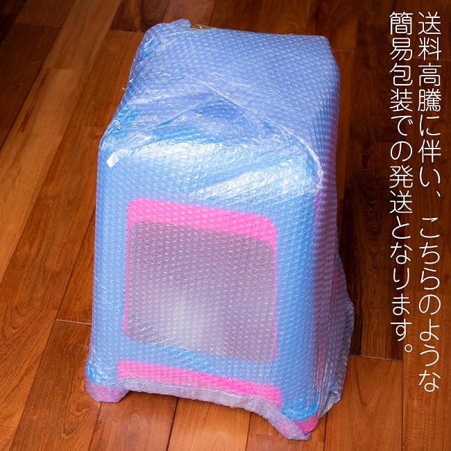 【自由に選べる6個セット】本場タイの屋台椅子 重ね収納OK! テラスなど屋外で使えるスタッキングチェア 13 - 近年送料高騰に伴い、簡易包装での発送となります。何卒ご理解賜りますようお願いいたします。