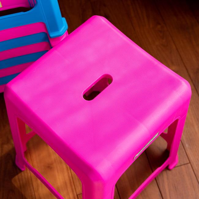【自由に選べる6個セット】本場タイの屋台椅子 重ね収納OK! テラスなど屋外で使えるスタッキングチェア 4 - 座面部分です