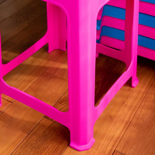 【自由に選べる6個セット】本場タイの屋台椅子 重ね収納OK! テラスなど屋外で使えるスタッキングチェア 5 - 足の拡大です