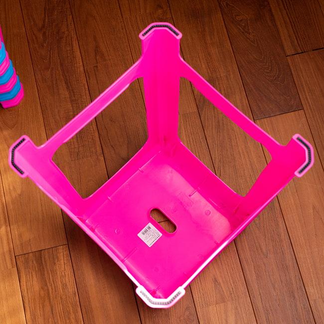 【自由に選べる6個セット】本場タイの屋台椅子 重ね収納OK! テラスなど屋外で使えるスタッキングチェア 6 - 裏面です