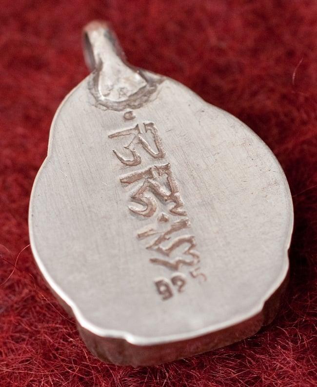 [シルバー925]インドの手作りシルバーペンダントトップ[ブッダ]の写真2 - 拡大写真です
