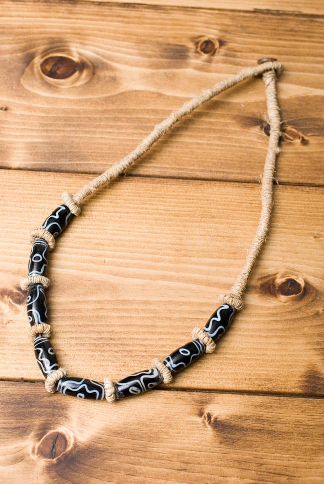 ヘンプのネックレス[黒]の写真