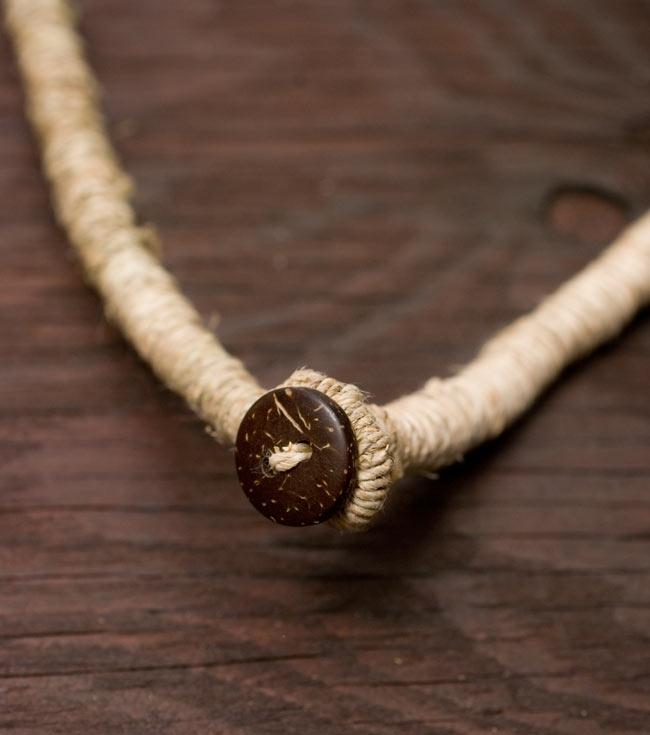 ヘンプのネックレス[ダークピンク] 4 - 留部分をアップにしてみました。しっかり留まります。