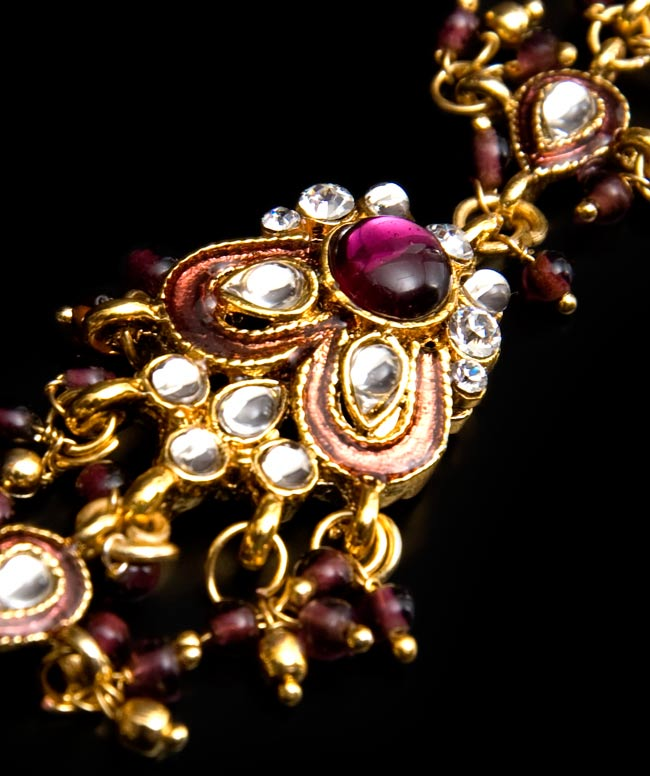 【ちょっと訳あり】ゴールドパンジャ[一本指] - 紫 3 - 中心部分の装飾が素敵です!