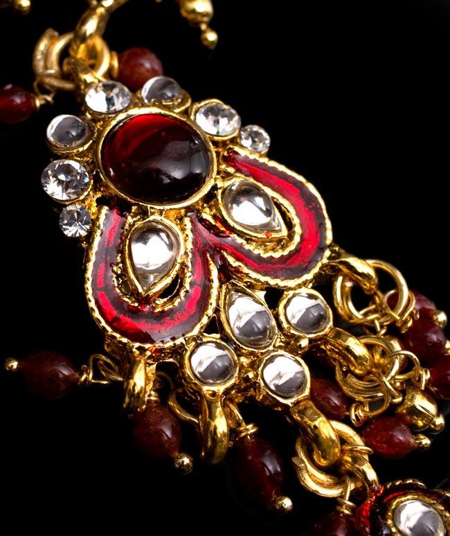 【ちょっと訳あり】ゴールドパンジャ[一本指] - 濃赤 3 - 中心部分の装飾が素敵です!