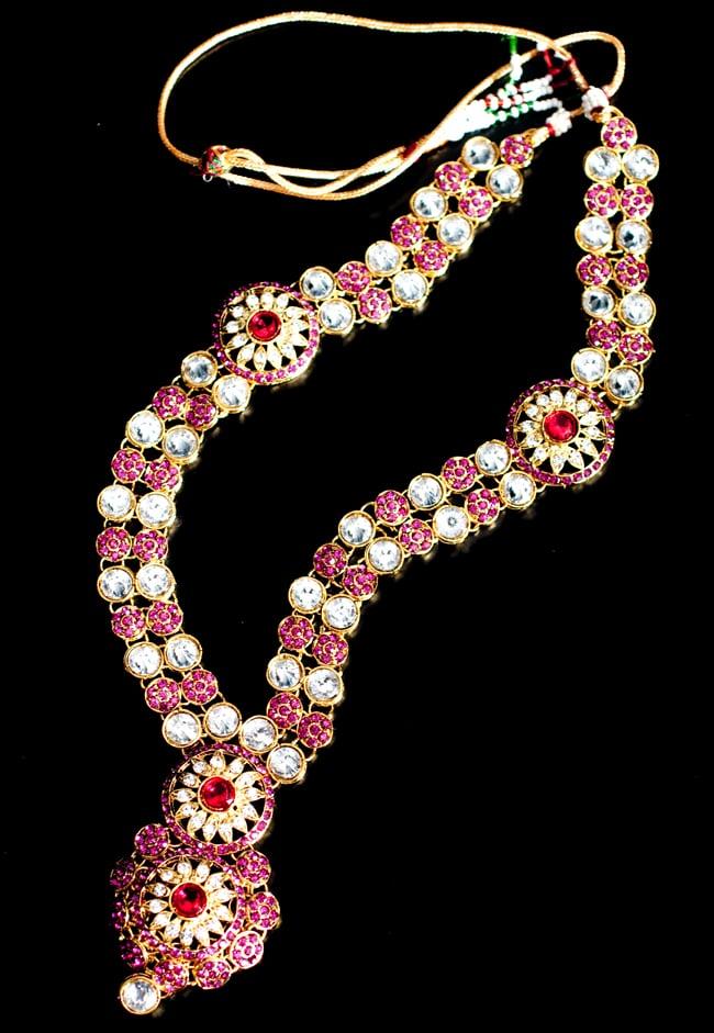 [インド品質]パーティー&婚礼用ジュエリー 豪華9点セット 6 - こちらは下にくる方のネックレスです