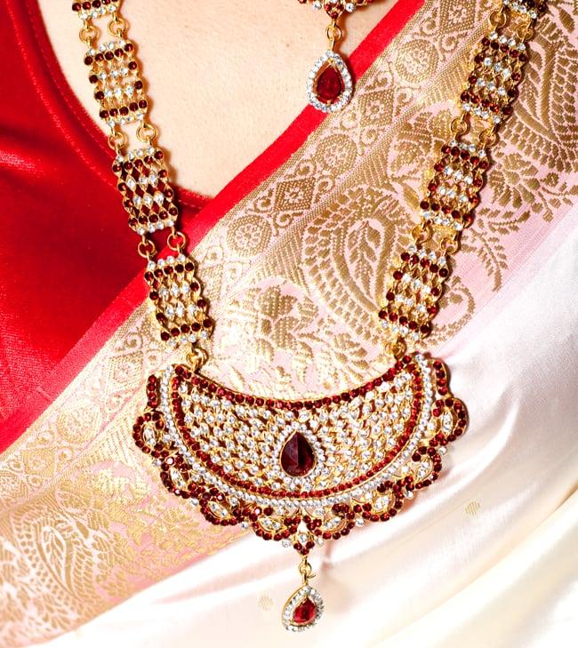 パーティー&婚礼用ジュエリー 豪華8点セット 18 - 下にくる方のネックレス拡大写真です