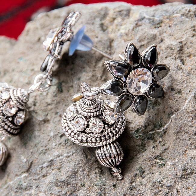 ラバリ族デザイン トライバル・シルバーメタル ネックレス&ピアスセット 8 - とても素敵な雰囲気です