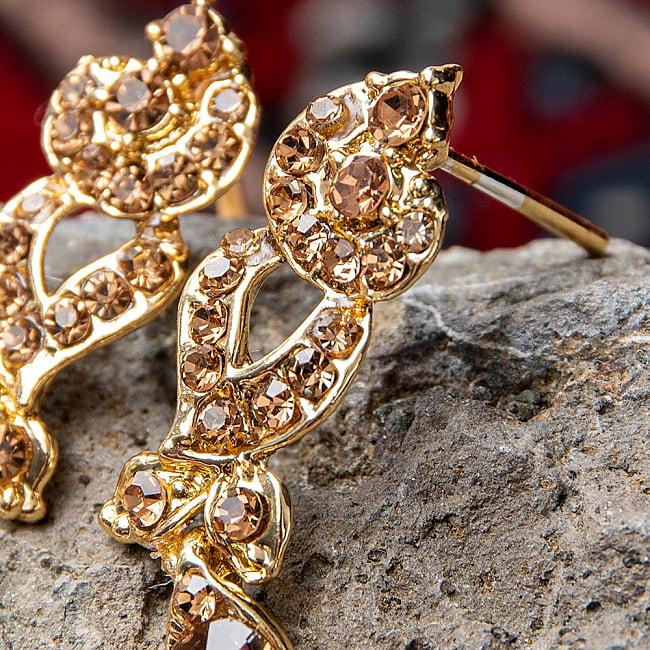シンプルラインストーンのネックレス&ピアスセット パーティーや結婚式などへ アクセサリーセット 8 - とても素敵な雰囲気です