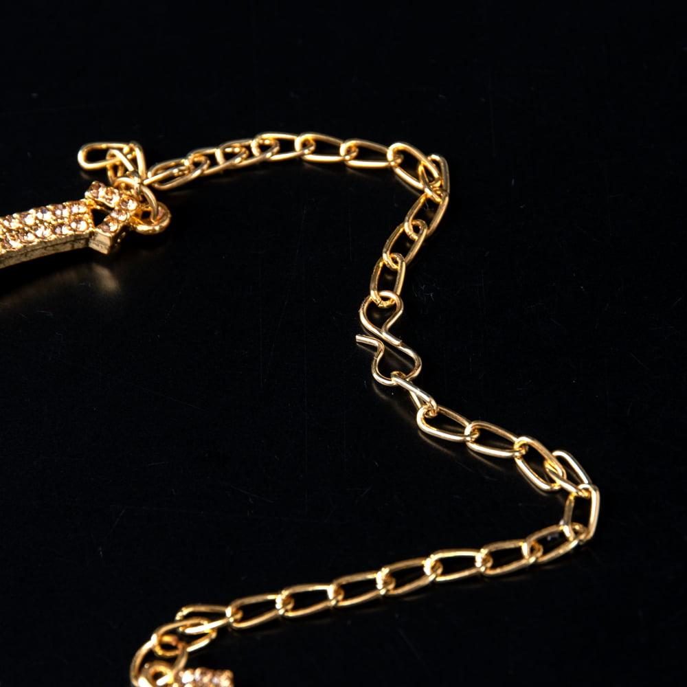 シンプルラインストーンのネックレス&ピアスセット パーティーや結婚式などへ アクセサリーセット 3 - チェーンの取り付け部分はこのようになっています