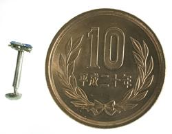 インドの鼻ピアス(小) 4 - 横に10円玉を置いた写真です