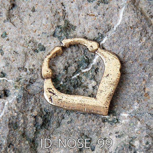 【自由に選べる6個セット】インドの伝統的アクセサリ ノーズリング 9 - インドの伝統的アクセサリ ノーズイヤリング(ID-NOSE-99)の写真です