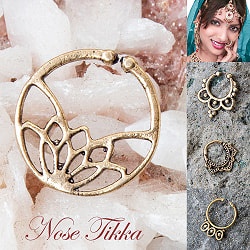 【自由に選べる6個セット】インドの伝統的アクセサリ ノーズリングの商品写真