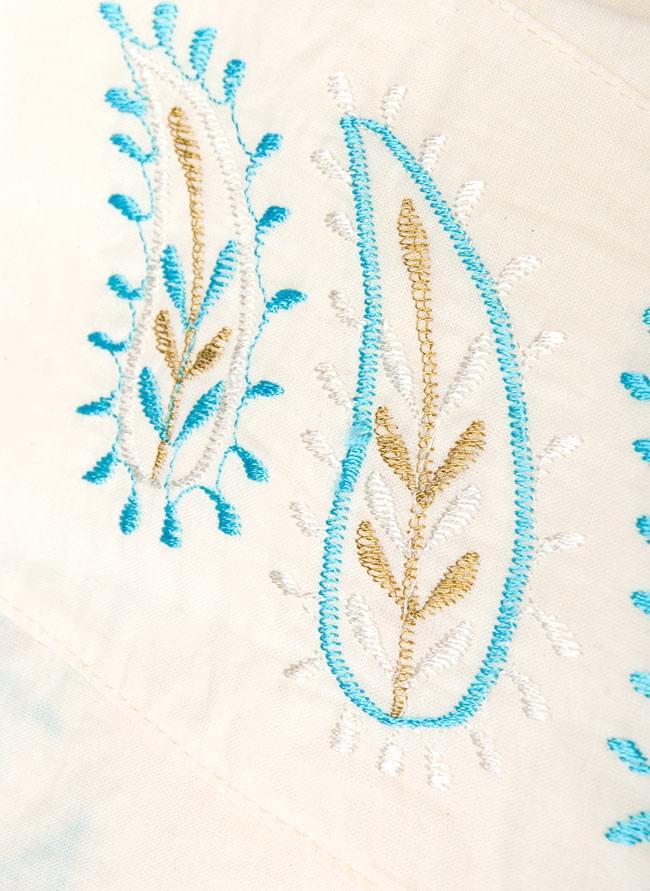 ペイズリー刺繍のルームウェア 【オフホワイト】 5 - 刺繍をアプにしてみました。