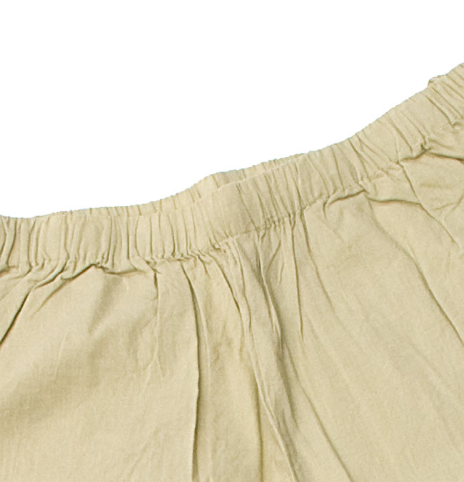 ペイズリー刺繍のルームウェア 【オフホワイト】 6 - パンツのウエストはゴムなのでとても楽チンです。(こちらは色違いです。)