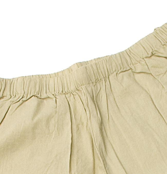 ペイズリー刺繍のルームウェア 【ホワイト】 6 - パンツのウエストはゴムなのでとても楽チンです。(こちらは色違いです。)