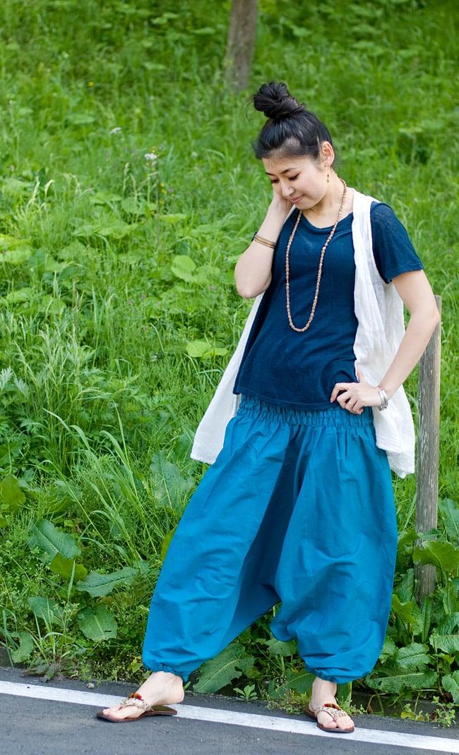 プレーンモモンガパンツの写真7 - F:ブルー