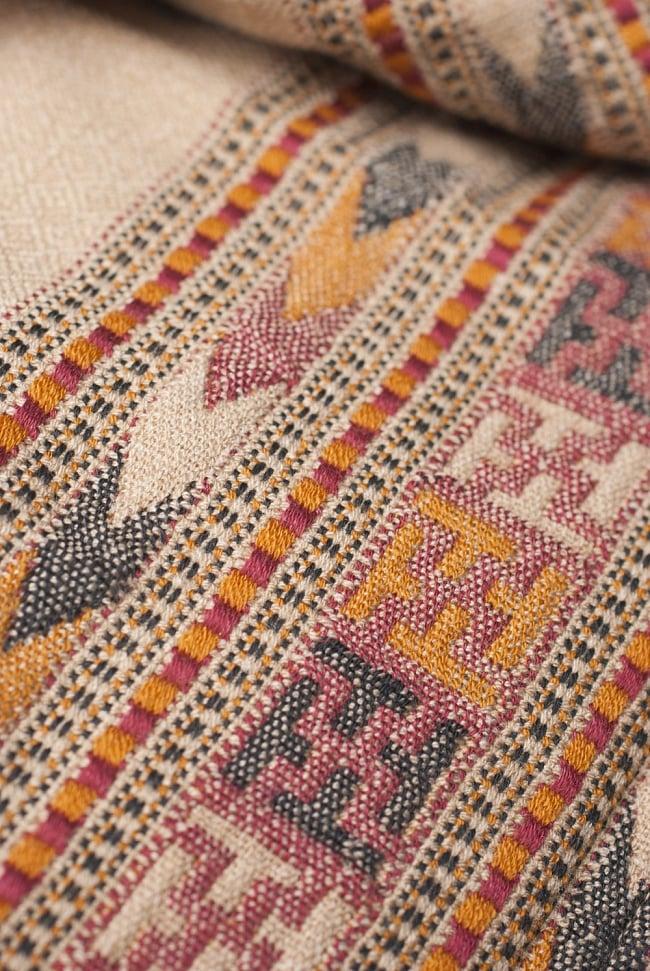 インディアン刺繍のボヘミアンワイドパンツ 8 - 裾周りの刺繍を近くから見てみました。