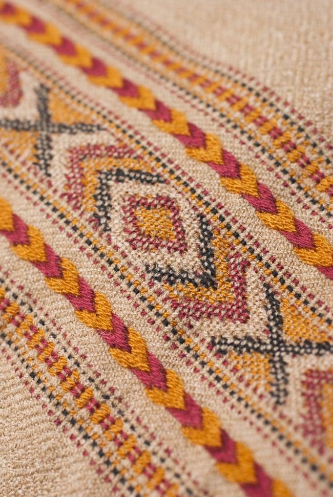 インディアン刺繍のボヘミアンワイドパンツ 9 - 裾周りの刺繍を近くから見てみました。