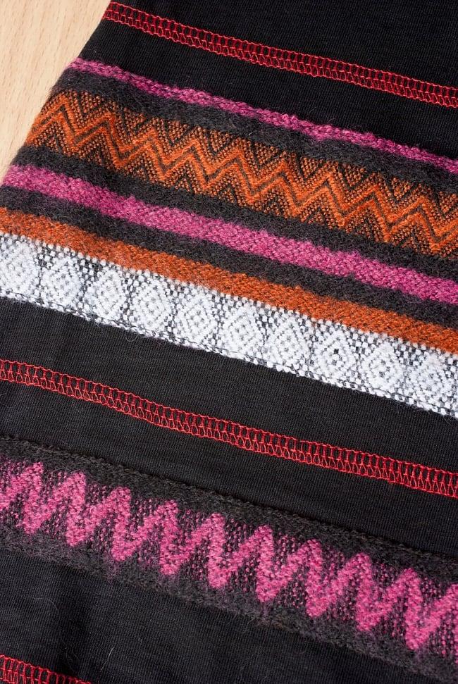 ストレッチ生地のブーツカットパンツ 7 - ふんわりした刺繍が黒地に生えて素敵です