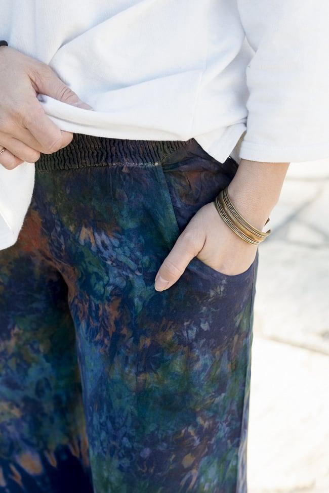 タイダイワイドパンツ 2 - 両サイドにポケットがあります。