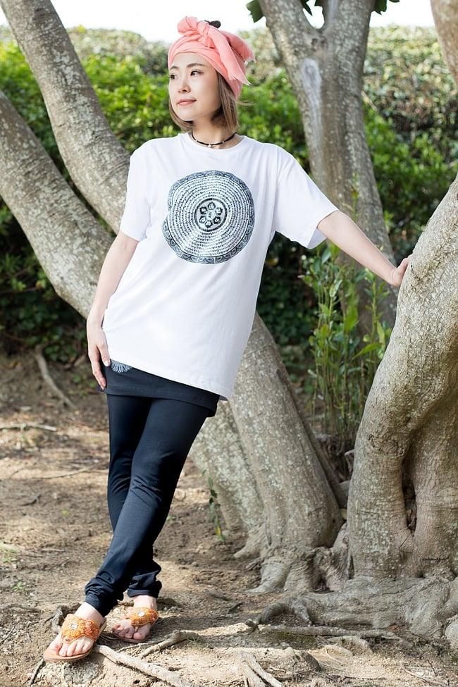 スカート付きマンダラ・ストレッチレギンスの写真