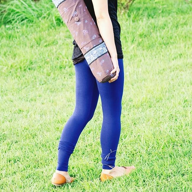 リラックスレギンスパンツ 動きやすく心地の良い軽やかさの写真10 - 【選択:L】濃青
